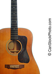 Acoustic Guitar - An abstract classic acoustic guitar ...