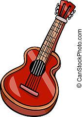 acoustic guitar cartoon clip art