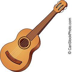 Acoustic guitar - Vector acoustic guitar