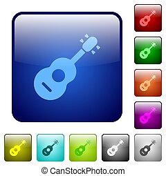 Acoustic guitar color square buttons