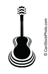 Acoustic Guitar Cutout - Traditional guitar shape...