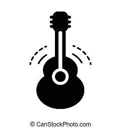 acoustic guitar icon black color