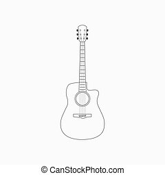 Acoustic guitar icon vector isolated