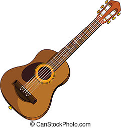 Acoustic guitar - Illustration of an acoustic guitar
