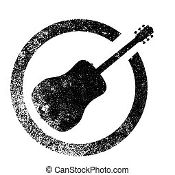 Acoustic Guitar Ink Stamp