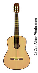 acoustic guitar isolated on a white