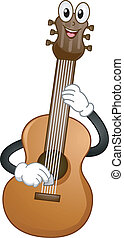 Acoustic Guitar Mascot - Mascot Illustration of an Acoustic...