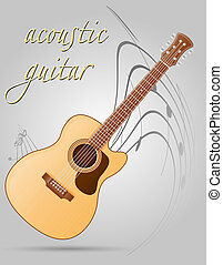 acoustic guitar musical instruments stock illustration