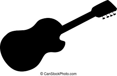 acoustic guitar, silhouette