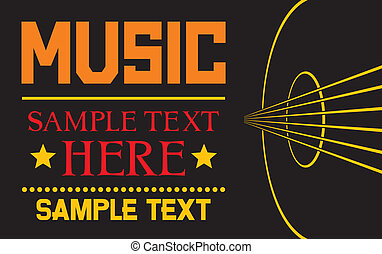 acoustic guitar - vector background