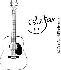 Acoustic Guitar - Vector Designed EPS10