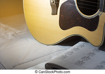 Acoustic guitarand basic chord