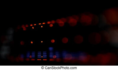 Acoustic image equalizer spectrum analyzer. EQ.