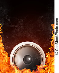 Acoustic Loudspeaker - Loudspeaker on Fire and Water ...