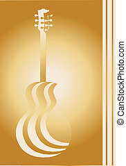 Acoustic Paper Cutout - Traditional guitar shape silhouettes...