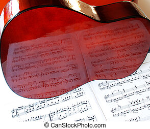 acoustical, guitare, musique