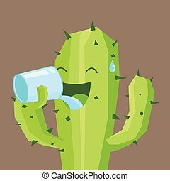 acqua, bere, cactus