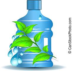 acqua, bere, pulito, bottiglia, plastica