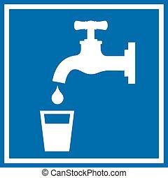 acqua, bere, segno