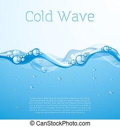 acqua blu, bubbles.
