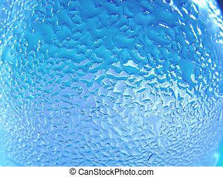 acqua blu, e, vetro