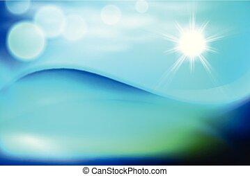 acqua blu, giorno pieno sole, onda
