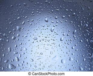 acqua blu, gocce, fondo