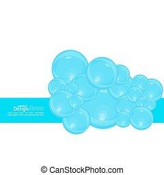 acqua, bubbles., astratto, fondo, onde