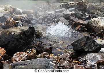 acqua calda, primavera, in, savusavu, figi