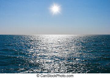 acqua, calmare, mare, superficie