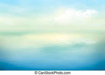 acqua, chiaro, vettore, calma, fondo