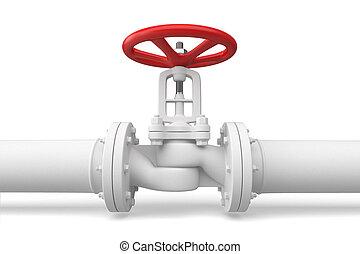 acqua, conduttura, valve.