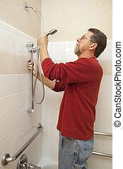 acqua, doccia, risparmio