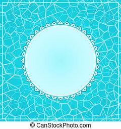 acqua, etichetta, blu, scheda, superficie