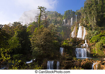 acqua, fall., min., provincia, do, thi, cascata, tak, ...