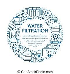 acqua, filtrazione, bevanda, filtrazione, minerale, filtri, pulito
