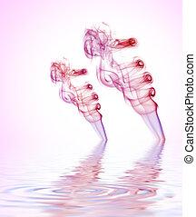 acqua, fumo, reso, riflesso, colorito