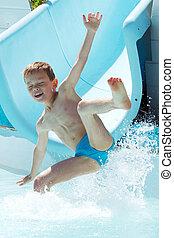acqua, gioco, bambino
