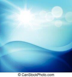 acqua, giorno pieno sole, onda