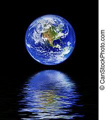 acqua, globo, riflessione