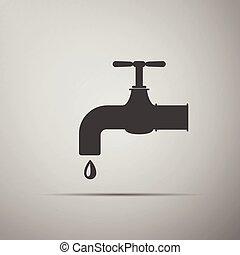 acqua, icon., rubinetto