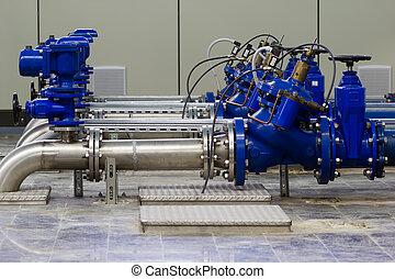 acqua, industriale, pompaggio