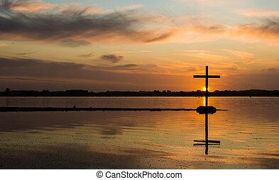 acqua lago, croce