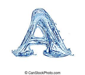 acqua, lettera
