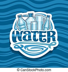 acqua, logotipo, bere, vettore