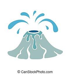 acqua, logotipo, geyser, illustrazione, vettore
