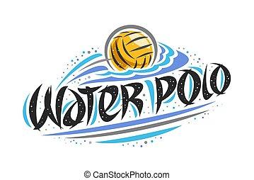 acqua, logotipo, vettore, polo