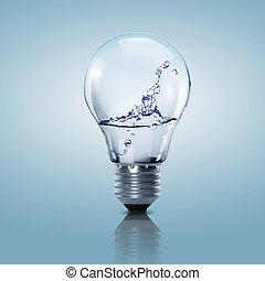 acqua, luce, elettrico, pulito, bulbo