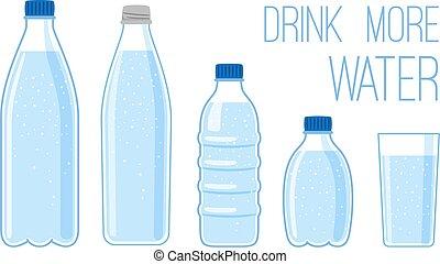 acqua minerale, appartamento, bottiglie