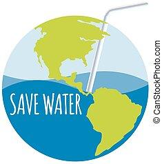 acqua, paglia, tema, risparmiare